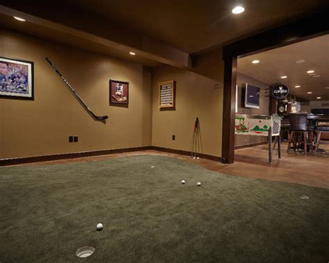 indoor putting green home design ideas pictures remodel
