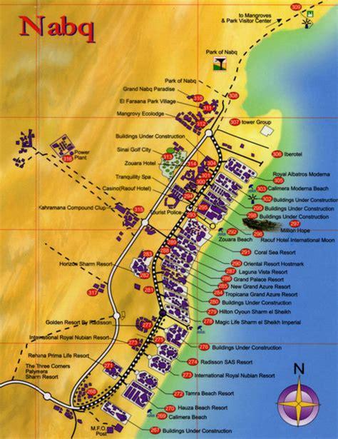 el magic resort map nabq bay tourist map nabq mappery