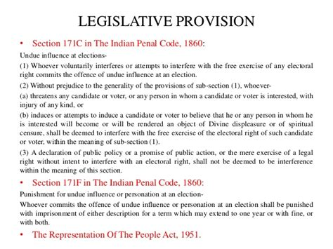 section 171 of ipc case analysis on offences related to elections ipc section