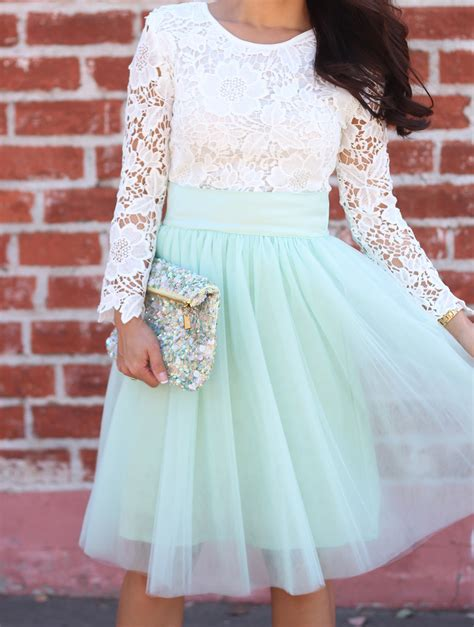 Rok Shabby Kawaii Import Skirt lace and tulle stylish