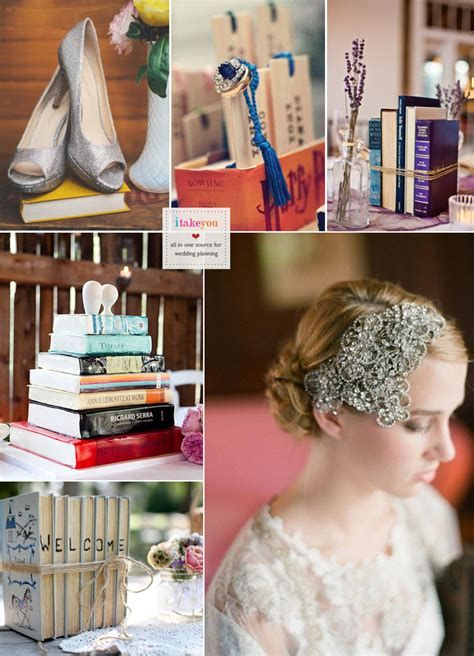 book themed wedding ideas vintage book themed wedding