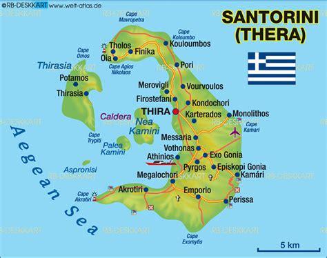 map  santorini greece islands miles  isles