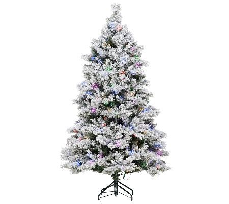 ellen degeneres christmas trees ed on air santa s best 7 5 flocked spruce tree by degeneres qvc