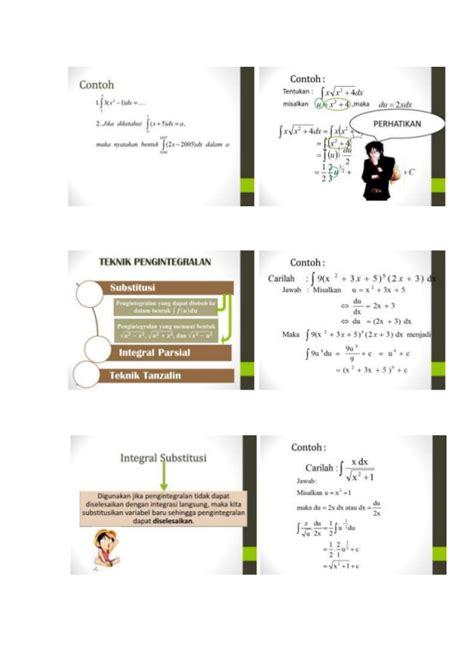 Buku Sma Pks Peminatan Kelas X Gematama Pelajari Konsep Dasar Integral Dalam Penyelesaian Masalah