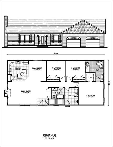 rectangular house floor plans diy projects simple and small for rectangular house floor plans design bedroom bath
