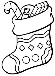 christmas stocking drawings cliparts