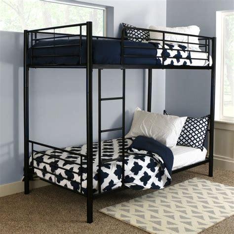 shop taylor olive abner black metal twin bunk bed