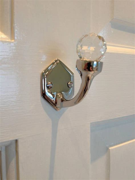 bedroom hooks wall stunning nickel brass cut glass door wall single hook