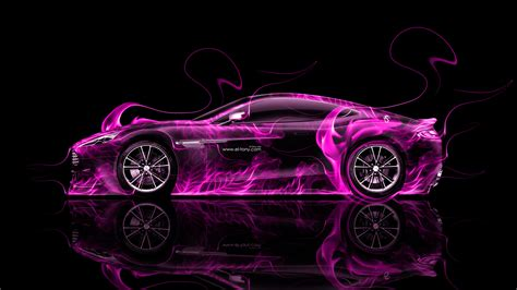 pink aston martin aston martin vanquish side fire abstract car 2014 el tony
