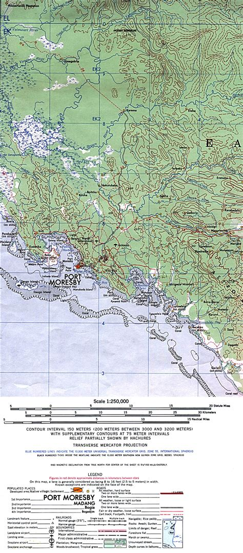 port moresby map detailed maps historical