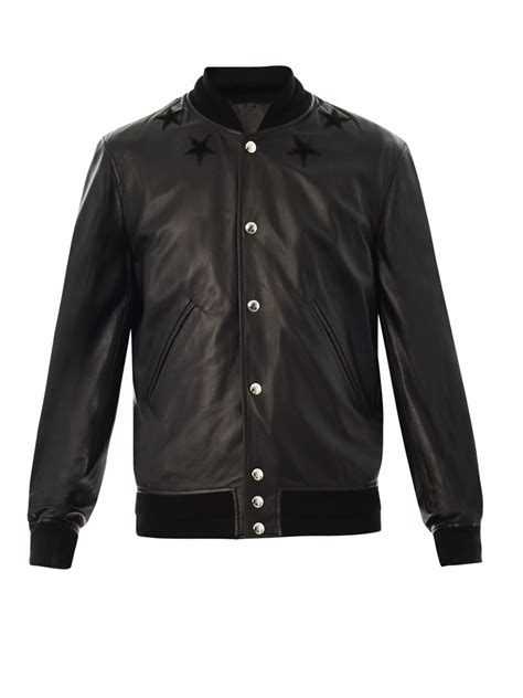 givenchy leather jacket givenchy leather bomber jacket in black for lyst