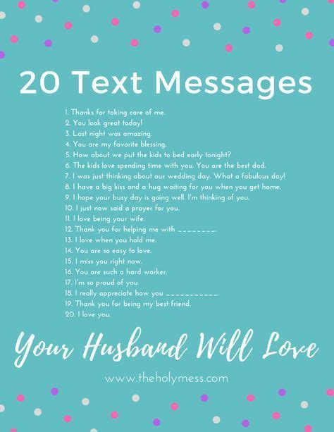 printable husband quotes 20 text messages your husband will love married life