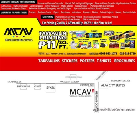 layout for tarpaulin printing mcav affordable quality printing services advertising