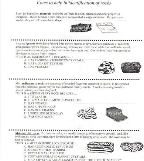 Rocks And Minerals Worksheets 3rd Grade Worksheets For All Www