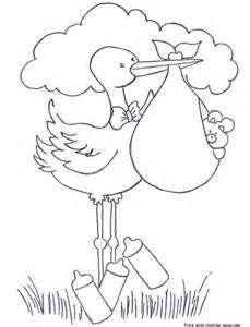 baby shower coloring pages print out baby stork bundle coloring pages for