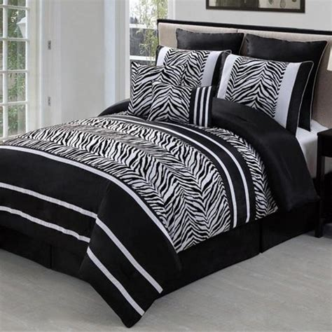zebra bedroom set best 28 zebra print comforter sets 8pc black white