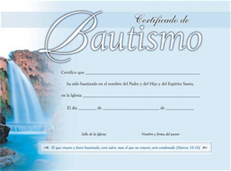certificado de bautismo template editorial peniel mas certificados certificado