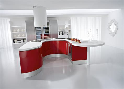 Red Kitchen White Cabinets | red kitchens