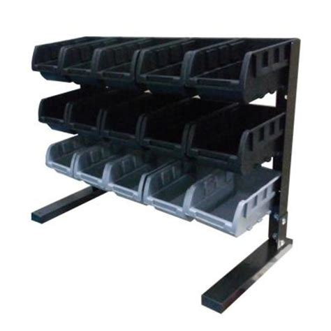 husky 15 compartment steel storage rack black from home