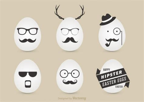 happiest hipster happy hipster easter vector free download