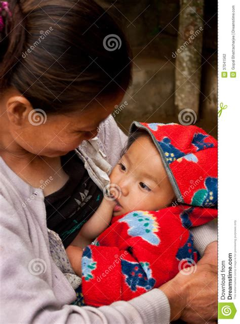 lepcha woman  baby editorial photography image