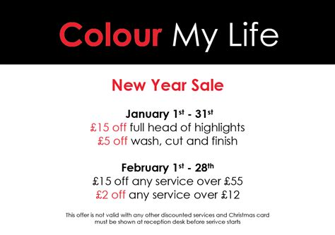 salon offers new year hair salon special offers london
