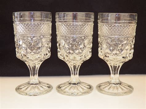 vintage glassware anchor hocking wexford set of three