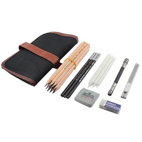 sketchbook pro eraser ibayam 18 pieces pen charcoal sketch set sketching pencil