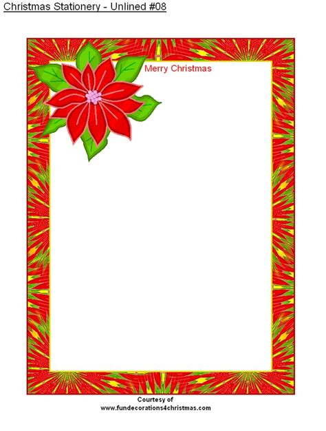 printable unlined christmas stationery christmas stationery stationery christmas