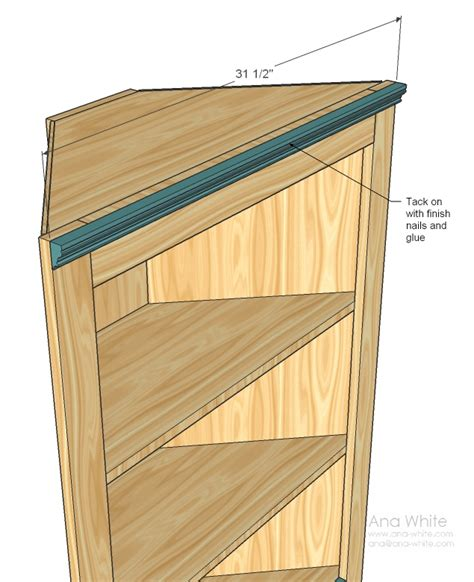 white corner cupboard diy projects