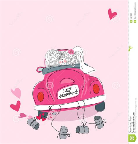 Just Married Auto Grafik by Just Married Stock Vector Image Of Bumper