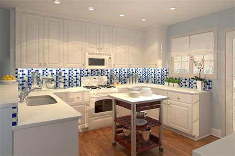 blue and white tile backsplash make the kitchen backsplash more beautiful inspirationseek com