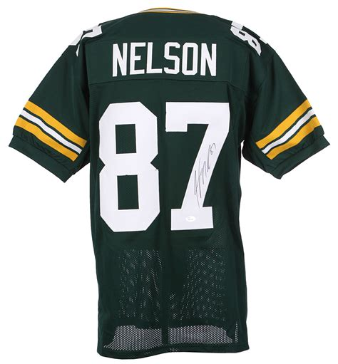 jordy nelson green bay packers jersey lot detail 2016 jordy nelson green bay packers signed