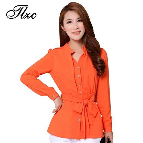 Nosh Korean Style V Neck Blouse Bow Tie Clara casual blouses designs 2017 best blouse 2017