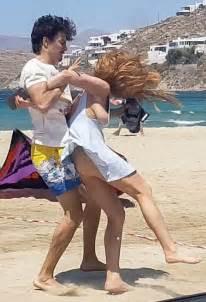 lindsay lohan and egor tarabasov fighting at a beach in mykonos 08 05 2016 hawtcelebs hawtcelebs