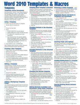 Reference Guide Template Word by Microsoft Word Template Reference Guide
