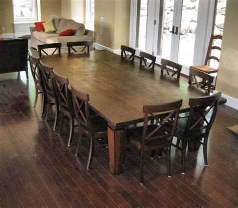12 Seat Dining Table 12 Seat Dining Room Table We Wanted To Keep The Additions As Unobtrusive As Possible While At
