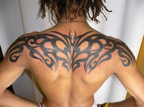 tight tattoo designs back tribal design that goes from shoulder to
