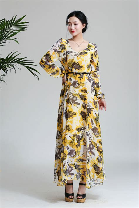 pattern korean dress korea high quality dress floral pattern long sleeve ball