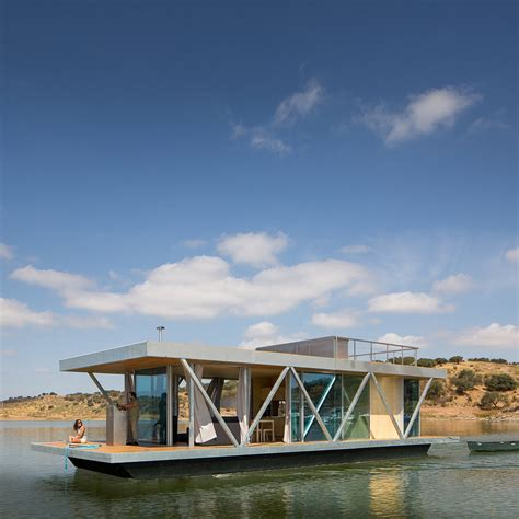prefabricated floating house can be shipped worldwide floating architecture dezeen