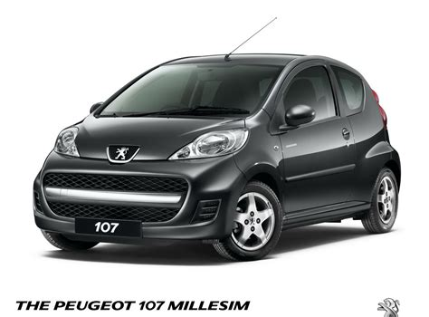 cars like peugeot 107 peugeot 107 also receives the millesim 200 treatment