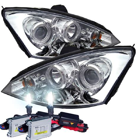 2000 ford focus zx3 headlights hid xenon 00 04 ford focus zx3 zx5 eye halo