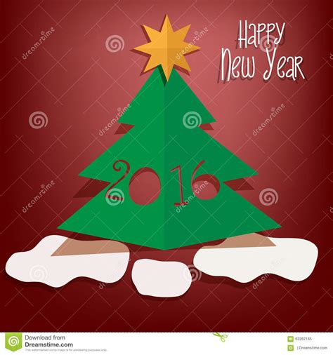 new year cut out happy new year greeting card stock illustration image