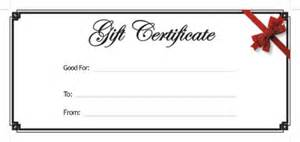 generic gift certificate template blank gift certificate template free printable