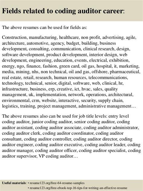 Coding Auditor Sle Resume by Top 8 Coding Auditor Resume Sles