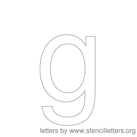 letter g template best photos of large printable lower g free