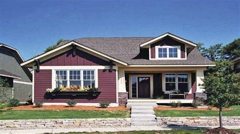 Small One Story House Plans With Porches Single Story Bungalow Homes Single Story Craftsman Bungalow House Plans Small One Story House