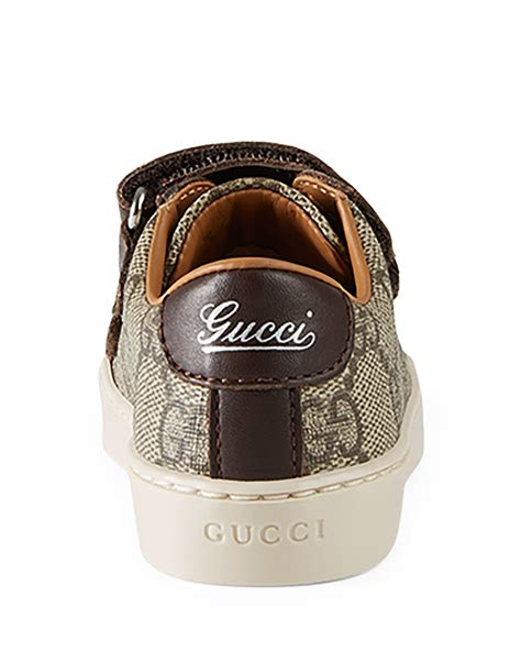 Gucci Color Center Leather Brown gucci leather trim canvas sneaker in brown for lyst