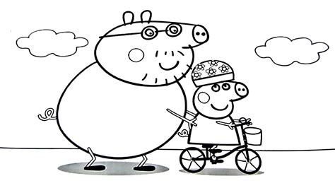 peppa pig coloring pages danny dog peppa pig daddy pig coloring book coloring pages kids fun