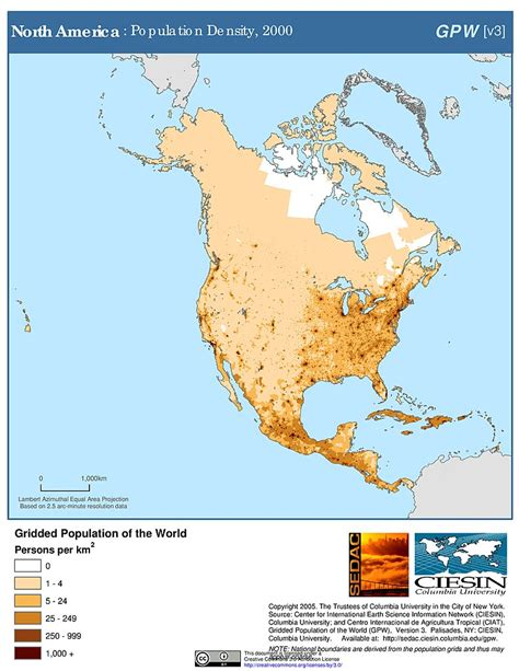 map of usa with population maps 187 population density grid v3 sedac